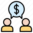 discussion, financial, idea, invest, money, talk