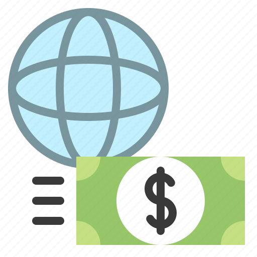 cash, currency, exchange, global, money, transfer icon
