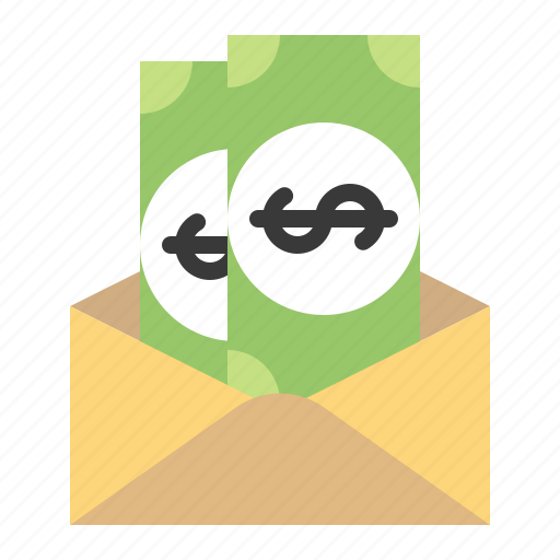 cash, envelope, letter, mail, money icon