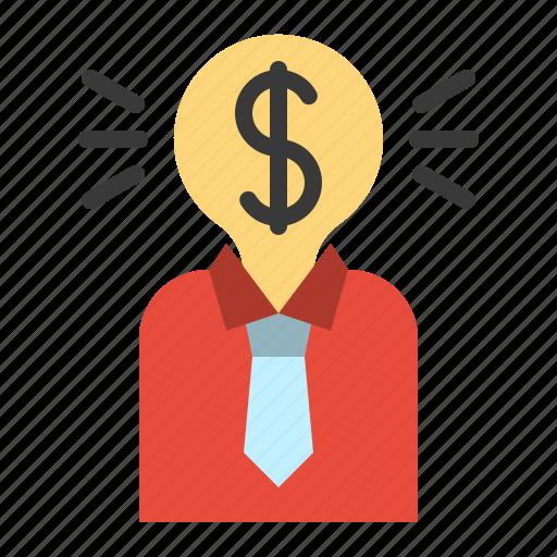 investor, marketing, money, sponsor, user icon