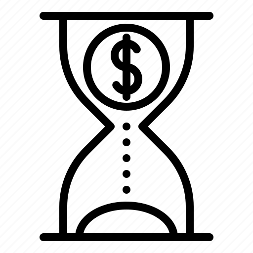 Business, chance, clock, hourglass, money, time icon - Download on Iconfinder