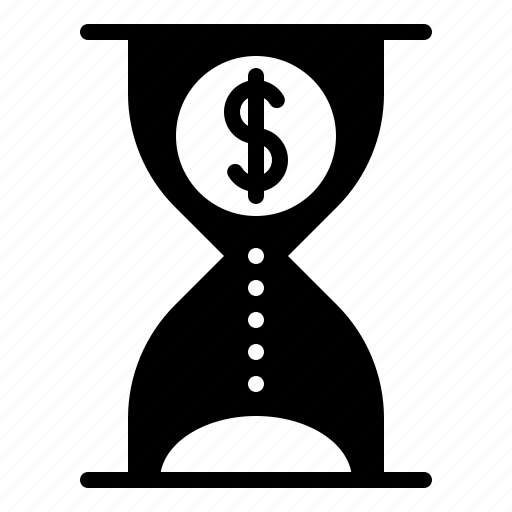 business, chance, clock, hourglass, time icon
