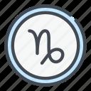 astrology, capricorn, horoscope icon