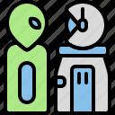 alien, invasion, monster, spacesuit, astronout, cosmonaut, astronaut icon