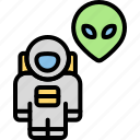 invasion, monster, alien, spacesuit, astronout, cosmonaut, astronaut icon