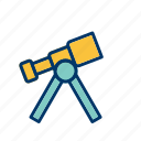 experiment, laboratory, research, space telescope, telescope icon