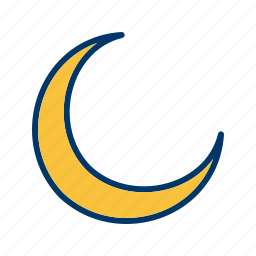 forecast, moon, new moon, weather icon