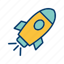 rocket, satellite, spaceship icon