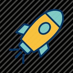 astronomy, rocket, satellite, spaceship icon