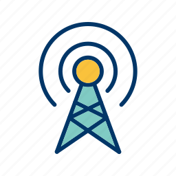 antenna, broadcast, connect, connection, technology icon