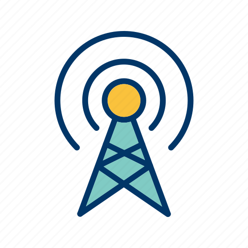 antenna, broadcast, connection icon