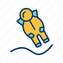 astronout, astronout landing, spaceman icon