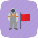 astronout, flag, space, spaceman icon