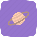 astronomy, planet, satrun, space icon