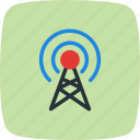 antenna, broadcast, communication, connection icon