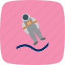 astronaut, astronout landing, cosmonaut, space, spaceman icon