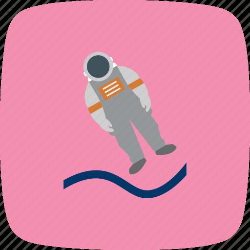 astronaut, astronout landing, cosmonaut, space, spaceman icon