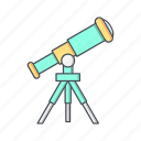 laboratory, lens, space telescope, telescope icon