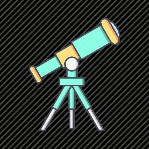 astronomy, cosmos, galaxy, space, telescope icon