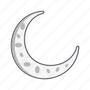 moon, new moon, night, weather icon