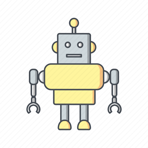 android, artificial intelligence, machine, robot, robotics icon