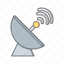 communication, connection, dish, radar, satellite icon