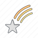 astronomy, bookmark, falling star, space, star icon