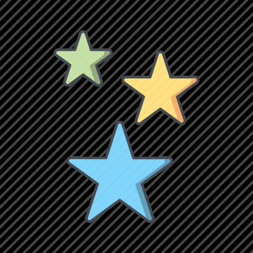 nature, sky, star, stars, weather icon