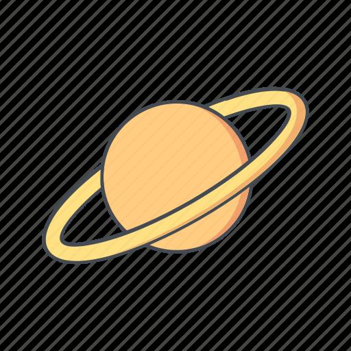 astronomy, globe, planet, satrun, space icon
