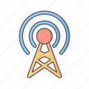 antenna, broadcast, communication, network, signal icon