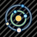 galaxy, planets, solar system, system icon