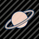 moon, planet, satrun, space icon