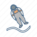 astronout, astronout landing, space, spaceman icon