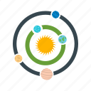 galaxy, planets, solar system, universe icon