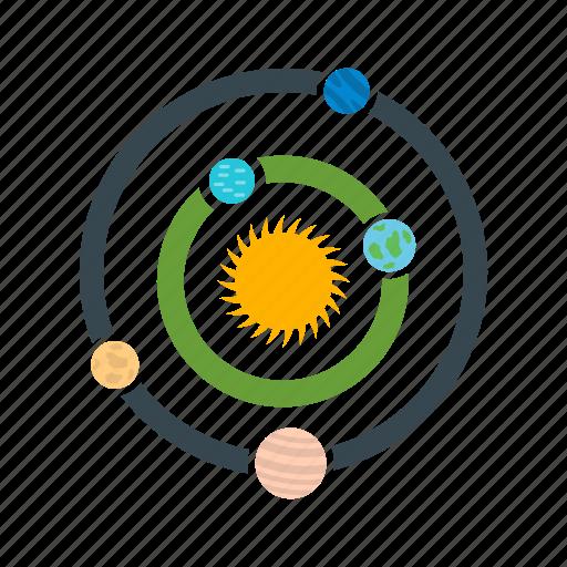 galaxy, planets, solar system, universe icon