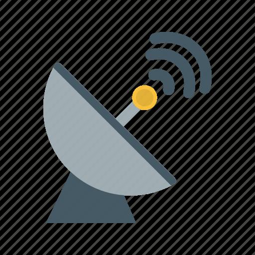 connection, network, radar, satellite, signal, space antenna, wireless icon