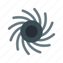 black hole, planet, space icon
