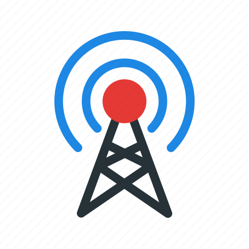 antenna, broadcast, connection, network, signal icon