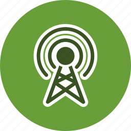 antenna, broadcast, connection, technology icon