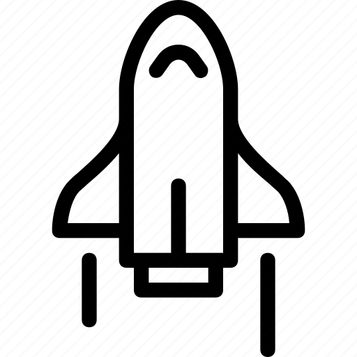 astronomy, launch, rocket, ship, space, space shuttle, spaceship icon