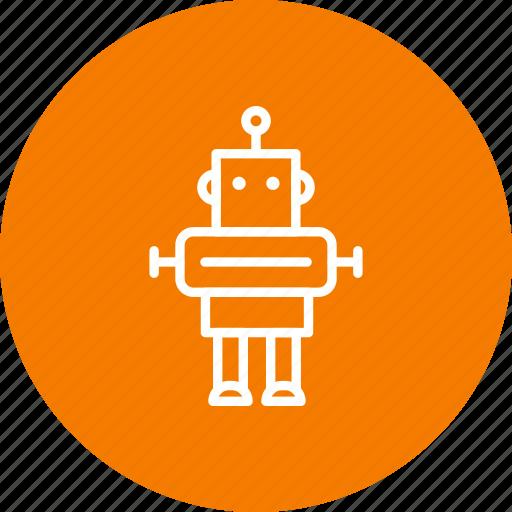 artificial intelligence, machine, robot, robotics icon