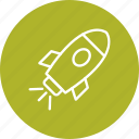 launch, rocket, satellite, spacecraft, spaceship icon