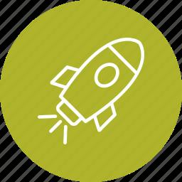 rocket, satellite, spaceship icon