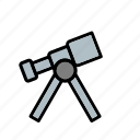 laboratory, science, space telescope, telescope icon