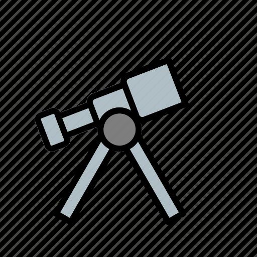 laboratory, space telescope, telescope icon