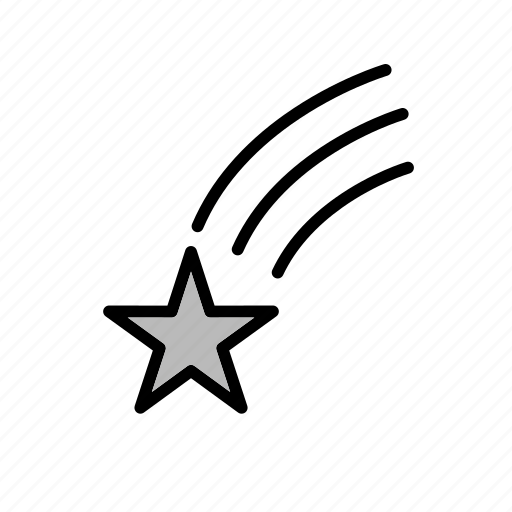 falling star, space, star, universe icon
