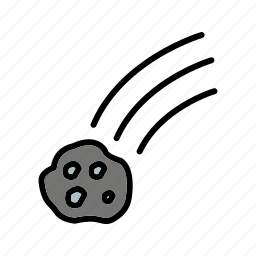 astronomy, falling meteorite, meteorite, space icon