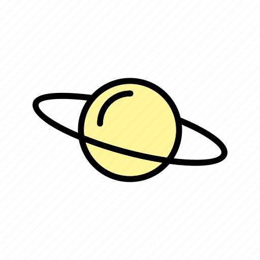 astronomy, planet, satrun, solar system, space icon