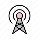 antenna, broadcast, communication, connection, signal icon
