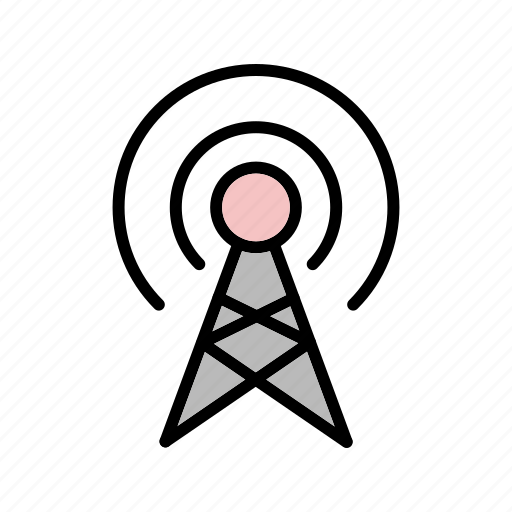 antenna, broadcast, connect, connection icon